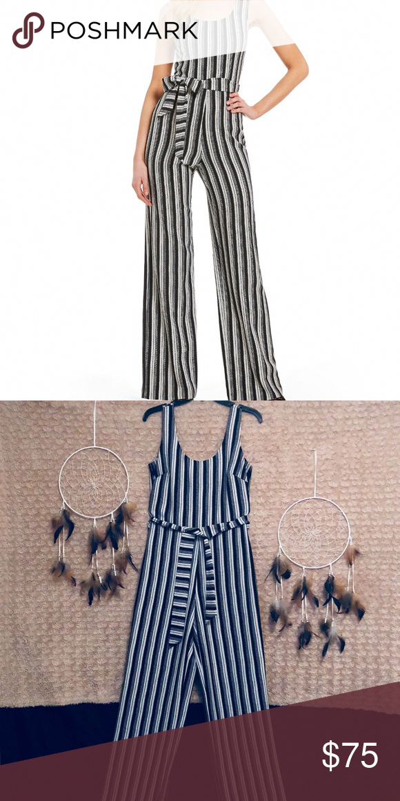 af5b26c36360 Karl Lagerfeld Sleeveless Striped Jumpsuit