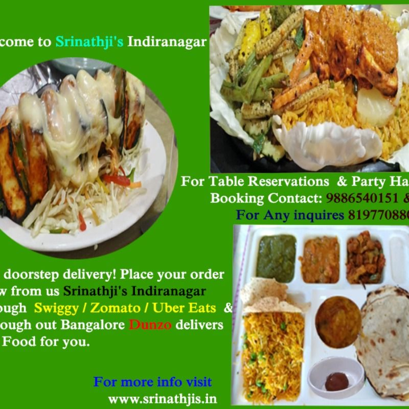 Srinathji S Indiranagar Welcomes You To Experience India S Most Unique Hygienic Veg Multi Cuisine Dishes North I Veg Restaurant Vegan Restaurants Near Me Food
