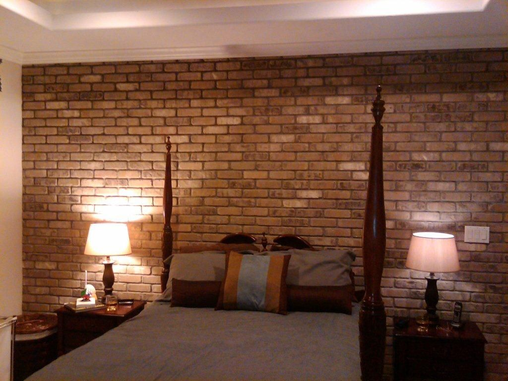 Love brick interiors. easy DIY loft look without the loft. Use our ...
