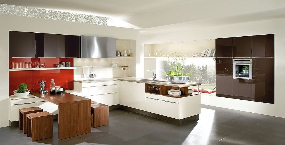 Moderne Deko Idee Stilvoll Küche Mit Integriertem Essplatz Muster On Andere  Auf Küchen Küche Mit Integriertem Essplatz