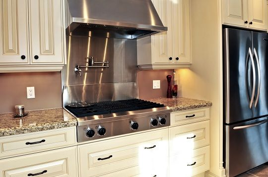 Stainless Steel Backsplash Sheets Kitchen