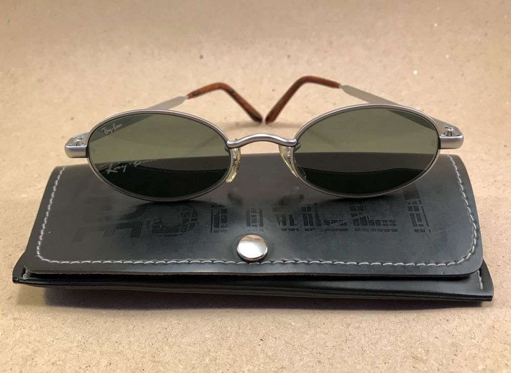 38a6d6a7c8  Vintage Ray Ban Highstreet Metal 2 Oval W2948 Silver G15 Bausch Lomb B L  USA