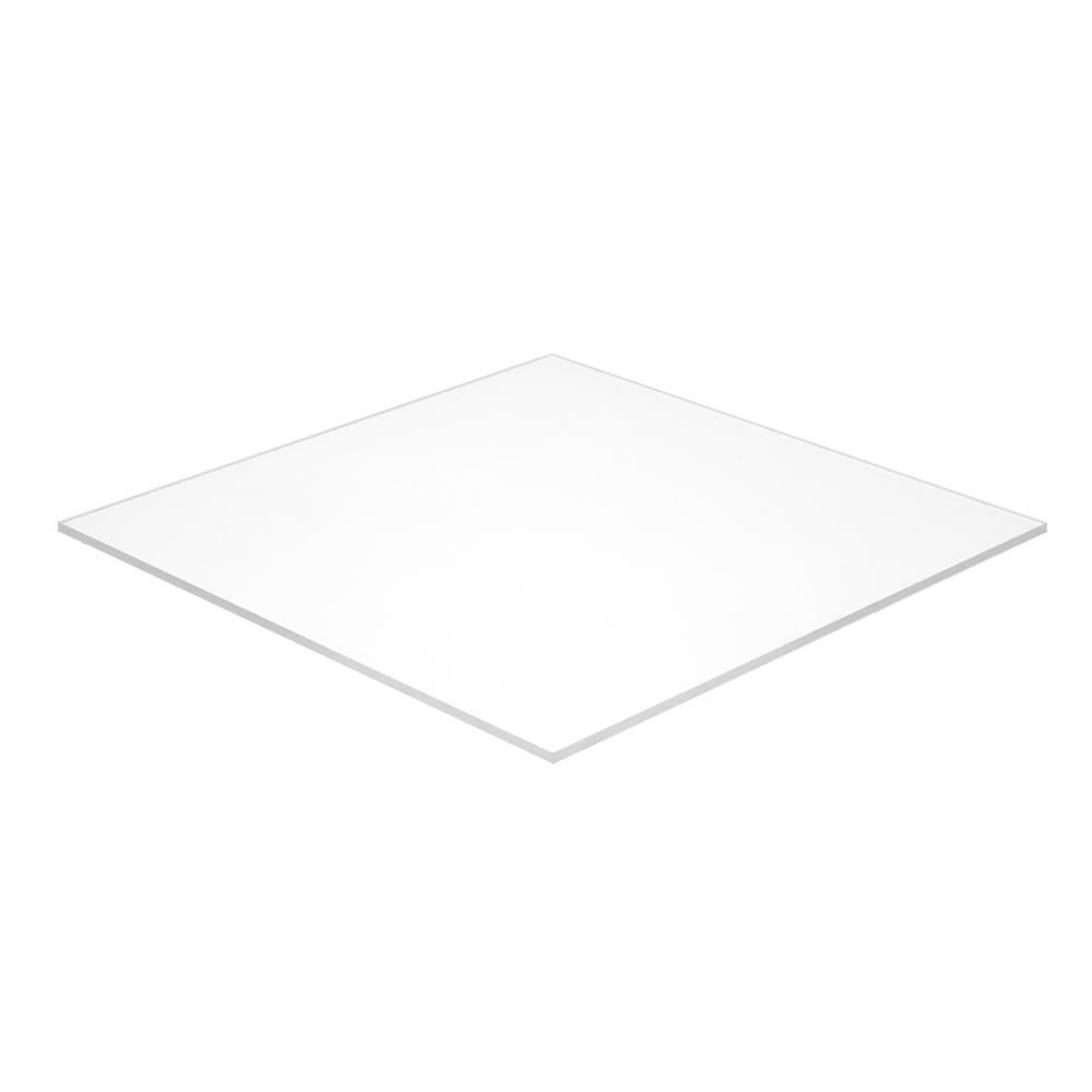 Falken Design 12 in. x 12 in. x 1/8 in. Thick Acrylic White Opaque 7508 Sheet-Falken Design ACRYLIC-WT-7508-1-8/1212 - The Home Depot