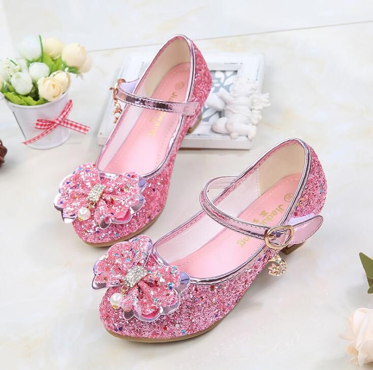 db334df23 Princess Girls Sandals Kids Shoes For Girls Dress Shoes Little High Heel  Glitter Summer Party Wedding Sandal Children Shoe. Yesterday s price  US   18.00 ...