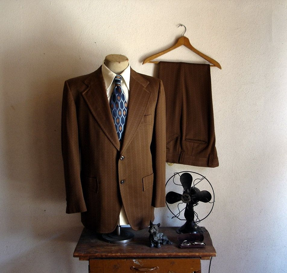 suit western Vintage polyester style