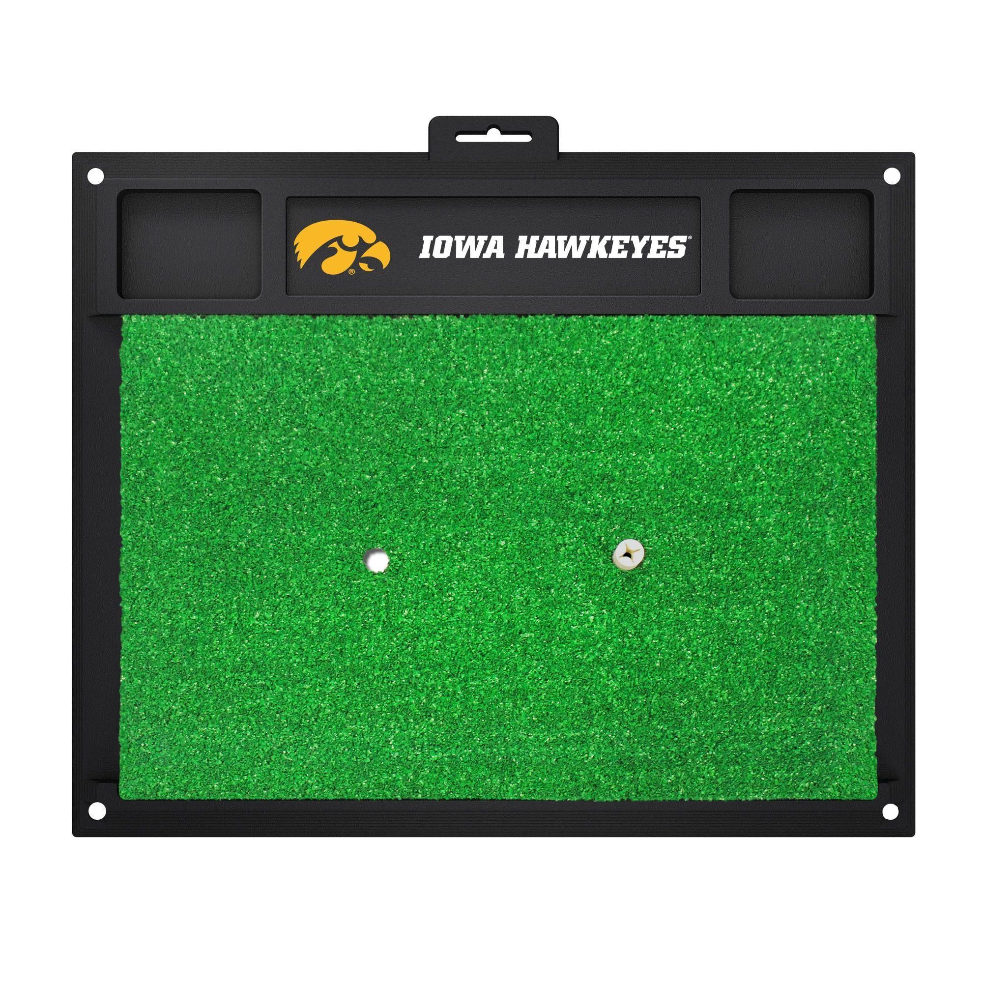 Fanmats Iowa Hawkeyes Rubber Golf Hitting Mat