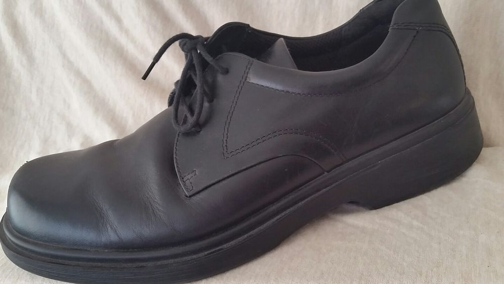 7391b364228 ECCO Men's Black Leather Lace Up Oxford Shock Point Shoes Size 10 US  44 EUR...great condition...see pics<br/><br/>Ecco Mens Black Shock Point  Shoes ...