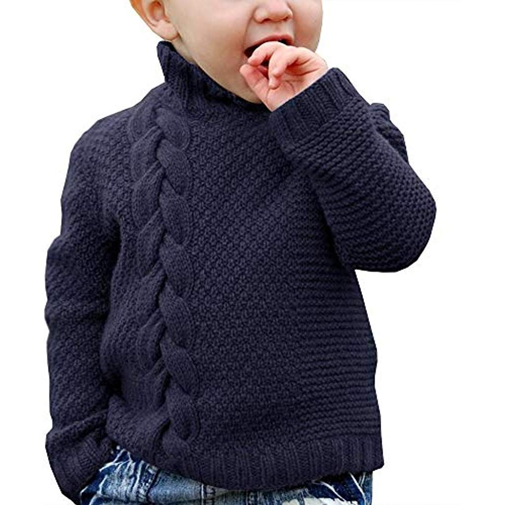 Toddler Unisex Baby Boys Girls Button-up Cotton Coat Christmas Pullove Sweater
