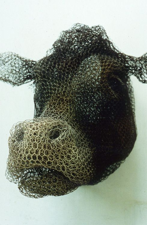 Cow (1997) Kendra Haste - wire meshing