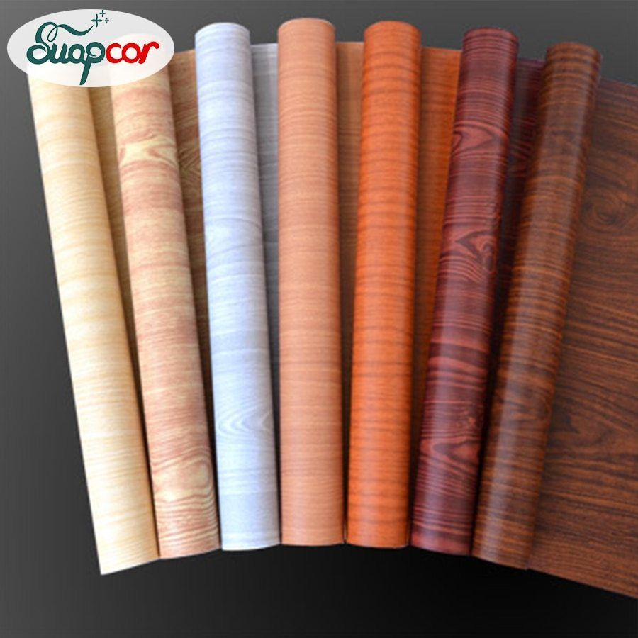 5m 10m Pvc Self Adhesive Wallpaper Roll Wardrobe Cabinet Door Furniture Imitation Wood Stickers Waterp Wood Grain Wallpaper Wall Stickers Vintage Wood Adhesive