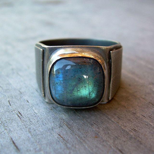 Natural Labradorite Labradorite Ring Men Labradorite Ring Sterling Silver Handmade Ring Labradorite Ring Labradorite Blue Labradorite