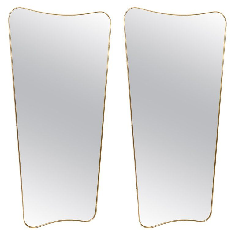 Pair Of Large Mirrors In The Style Of Gio Ponti Large Mirror Modern Mirror Wall Elegant Mirrors