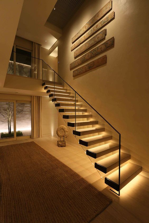 15+ Stairway Lighting Ideas For Modern And Contemporary Interiors ...