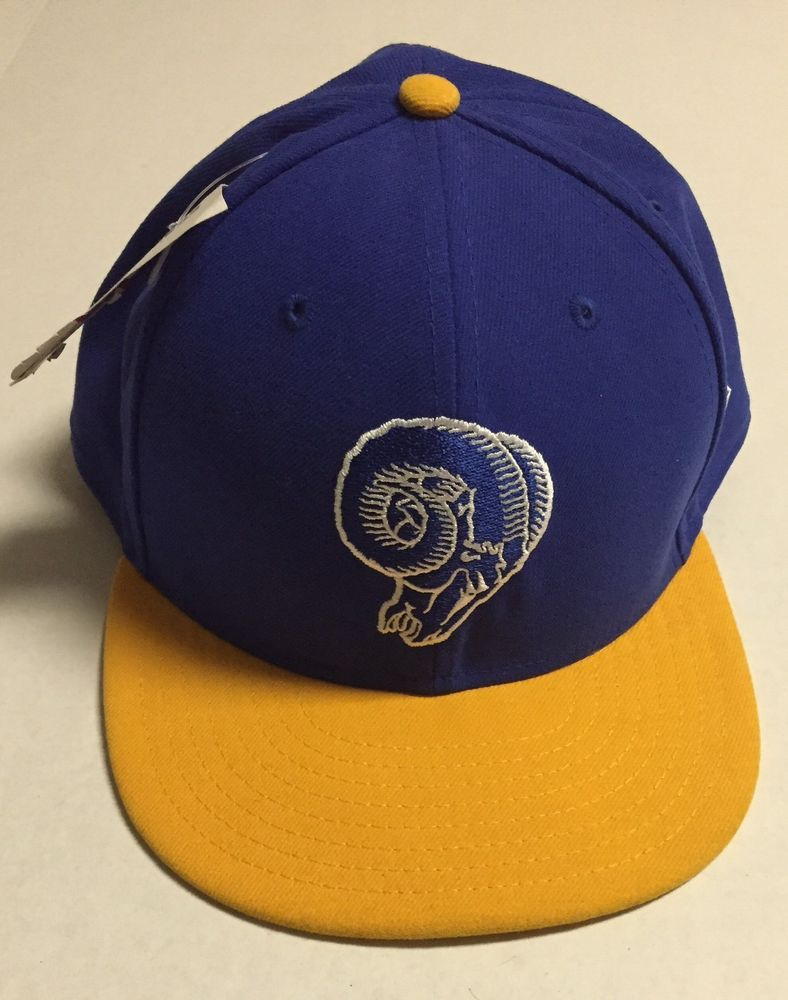 23069f16 Los Angeles Rams Fitted Hat 8 1/2 New Era Baseball Cap NFL St Louis  Throwback LA #NewEra #LosAngelesRams