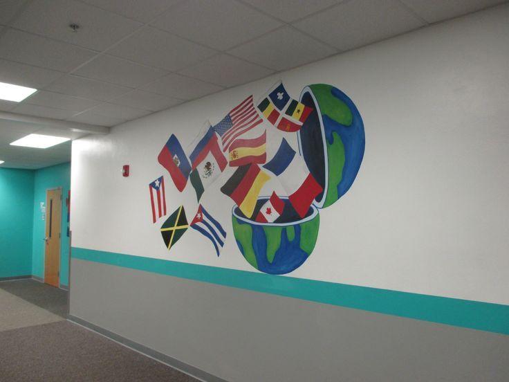 Language Classroom Decoration ~ Foreign language hallway spanish learning pinterest
