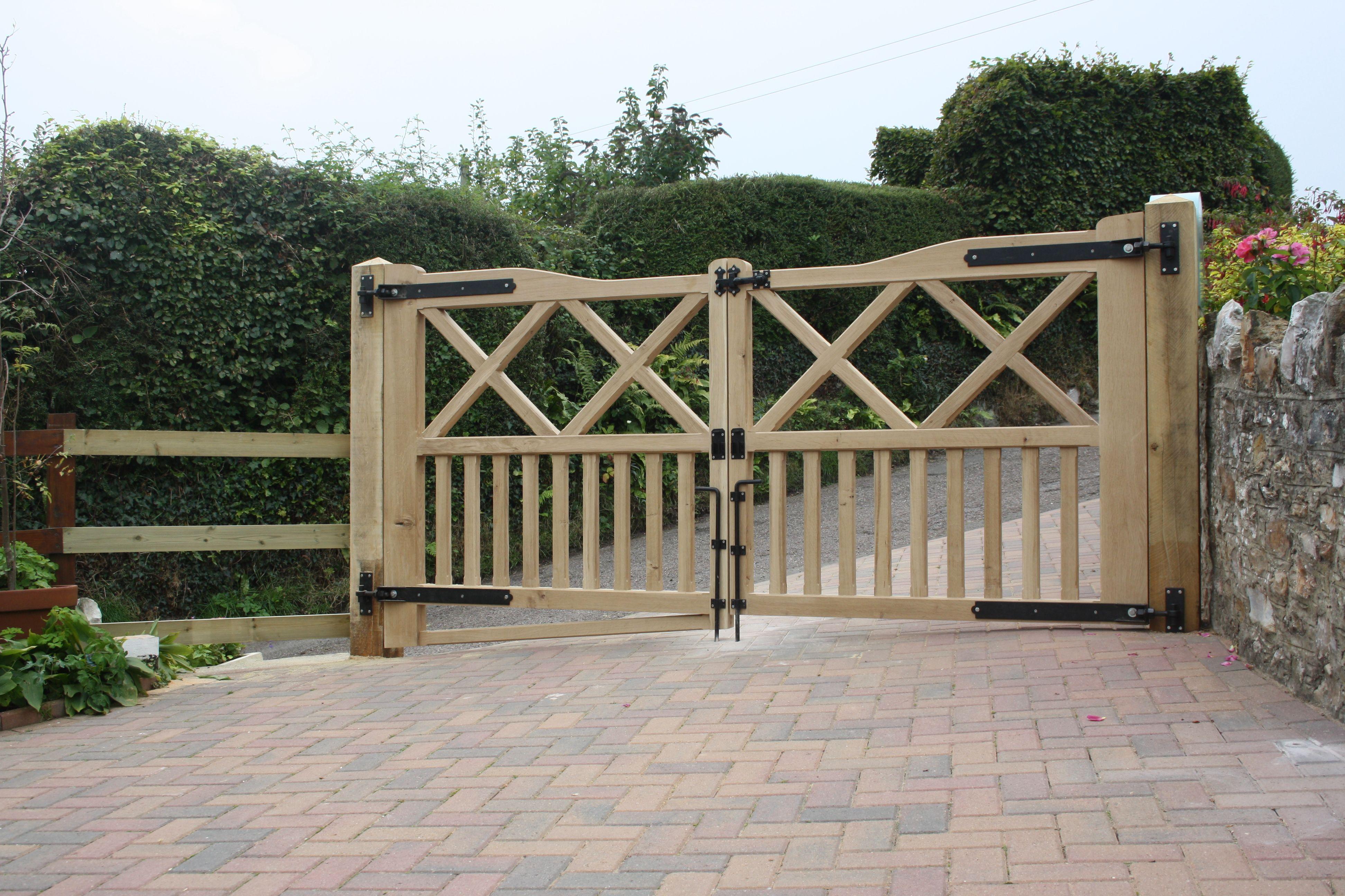 Oak driveway gates for Wooden garden gates designs