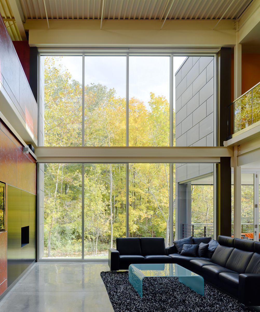 51 Modern Living Room Design From Talented Architects: The Zinc House Cincinnati, Ohio 6,222 Sq. Feet 5 Bedroom 4