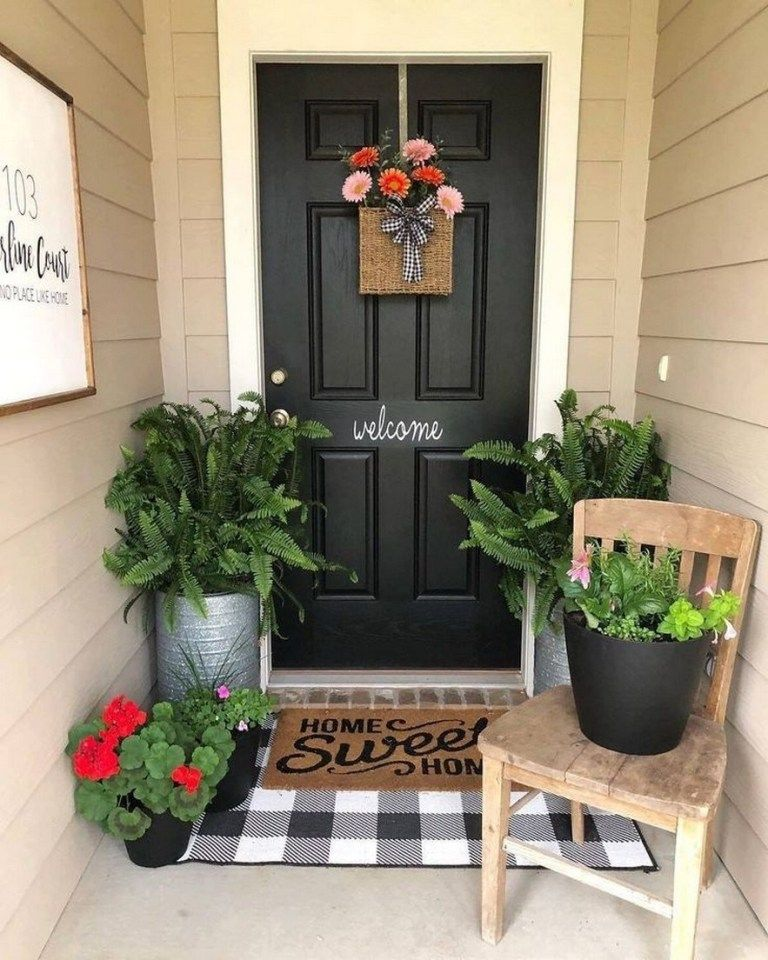 ✔64 beautiful and simple front porch for summer design 27 #smallporchdecorating