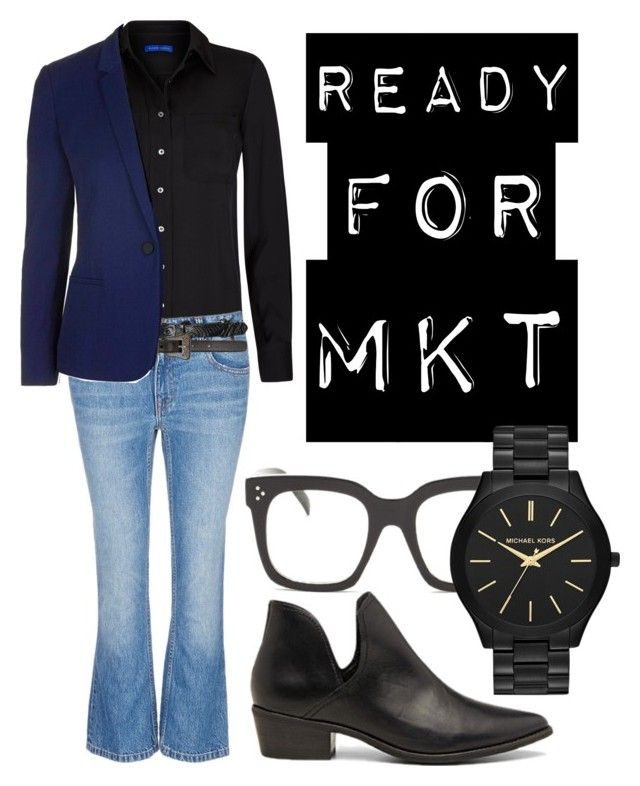 """""""Ready for mkt"""" by mars1128 on Polyvore featuring Winser London, Alexander Wang, Topshop, Yves Saint Laurent, Steve Madden, MICHAEL Michael Kors, men's fashion and menswear"""