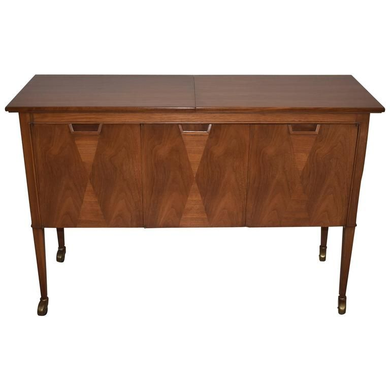 Mid Century Mount Airy Furniture Co Janus Collection Rolling Bar