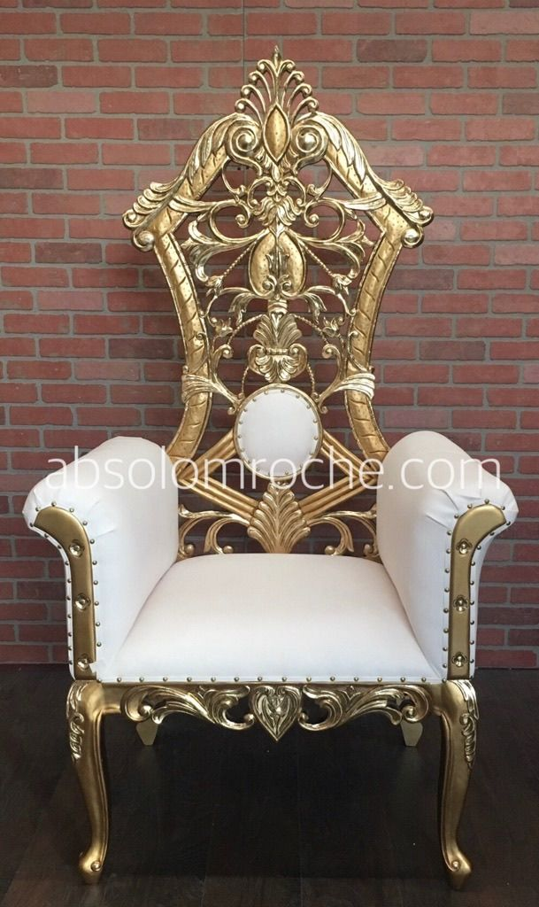 absolom roche gotham chair gold white absolom roche in 2019 throne chair sofa furniture. Black Bedroom Furniture Sets. Home Design Ideas
