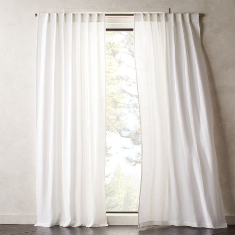 Heavyweight White Linen Curtain Panel 48 X108 Reviews In 2020