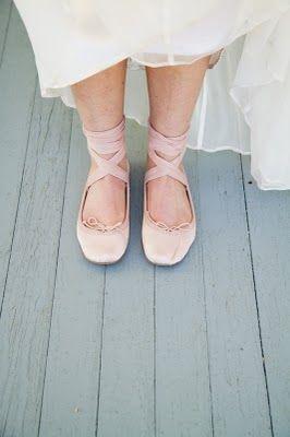 Ballet Slippers Under The Dress