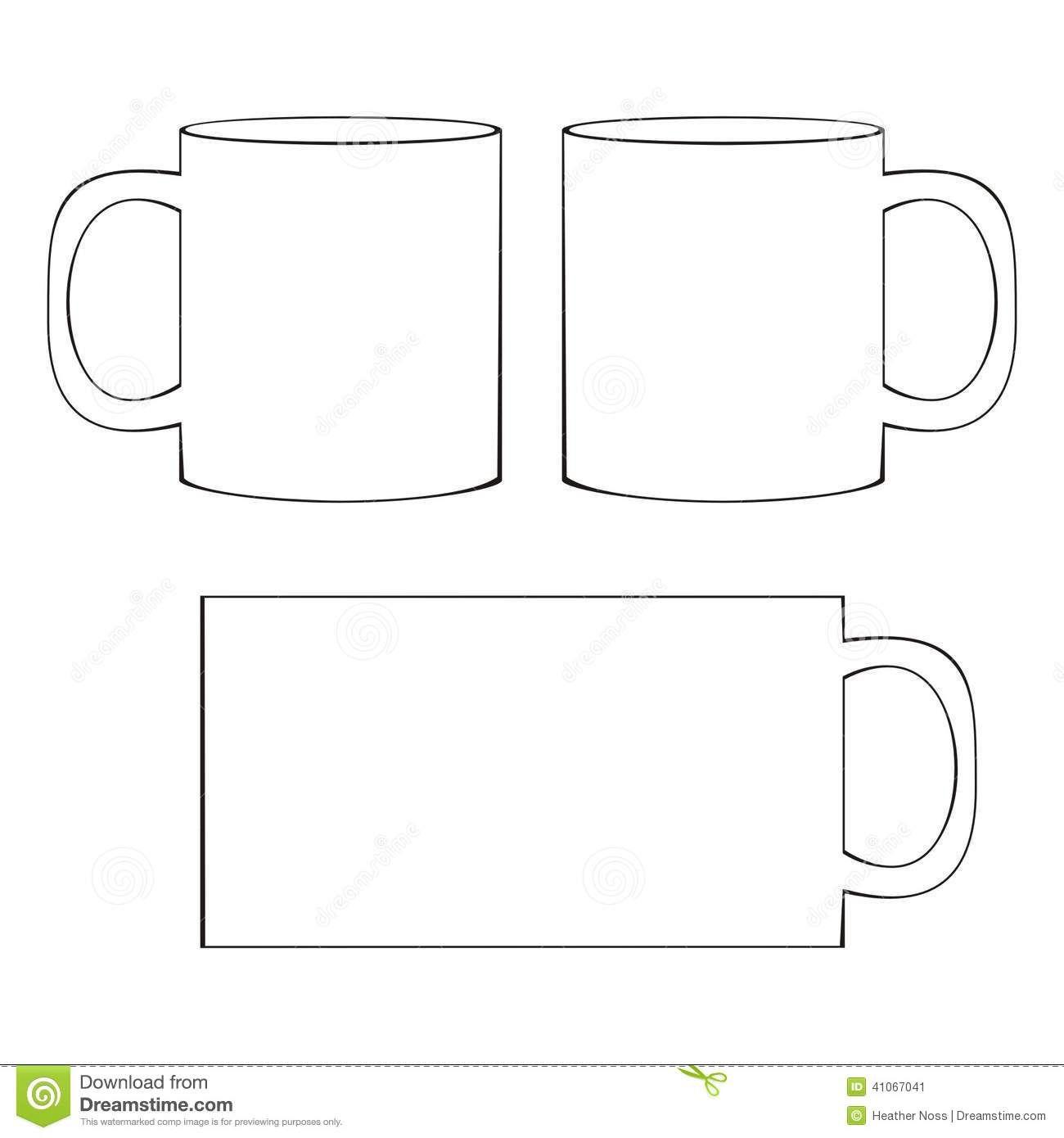 image regarding Printable Coffee Mugs identified as Espresso Cup Template Printable Printable Espresso Mug