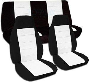 Amazon Com Two Tone Car Seat Covers Black And White Semi