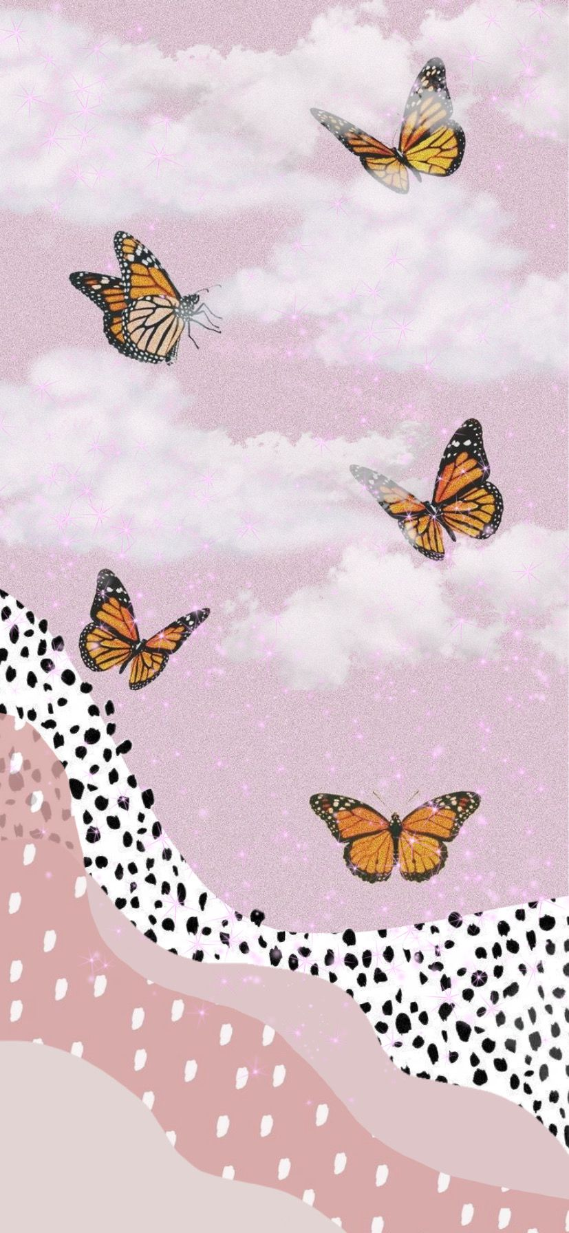 Wallpaper In 2020 Butterfly Wallpaper Cute Patterns Wallpaper Pink Glitter Wallpaper