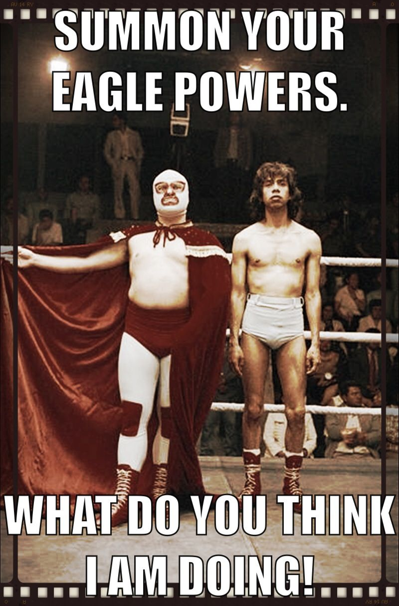Who S That Masked Man And Where Did He Learn To Wrestle Like That Nacho Libre Funny Movies Nacho Libre Costume