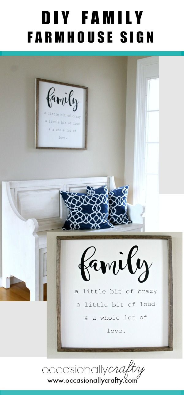 Wall Sign Decor Beauteous Diy Family Farmhouse Sign  Free Cut File  Free Studio Filing Inspiration