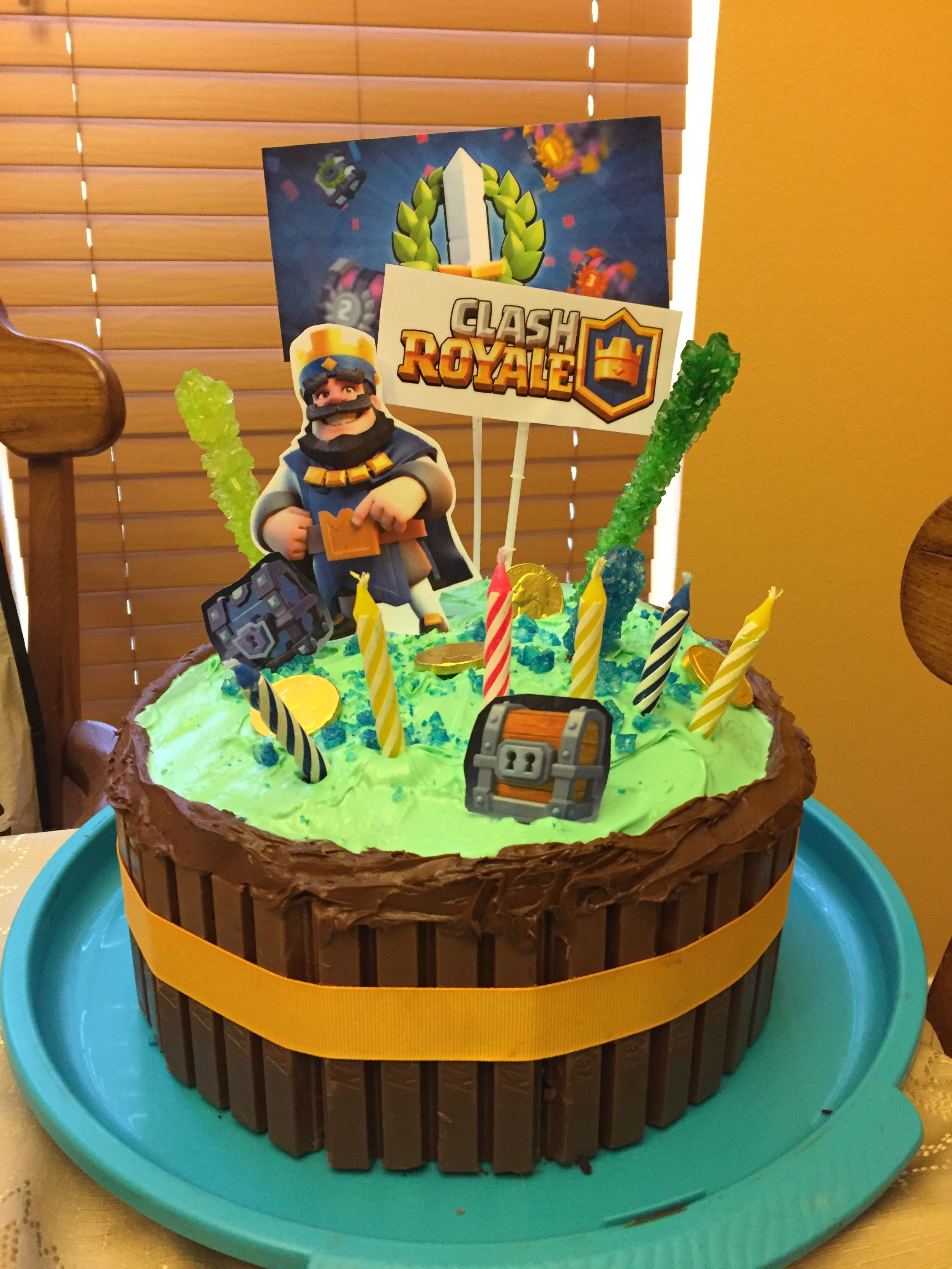 Clash Royale Birthday Cake Idea With Images Clash Royale Cake