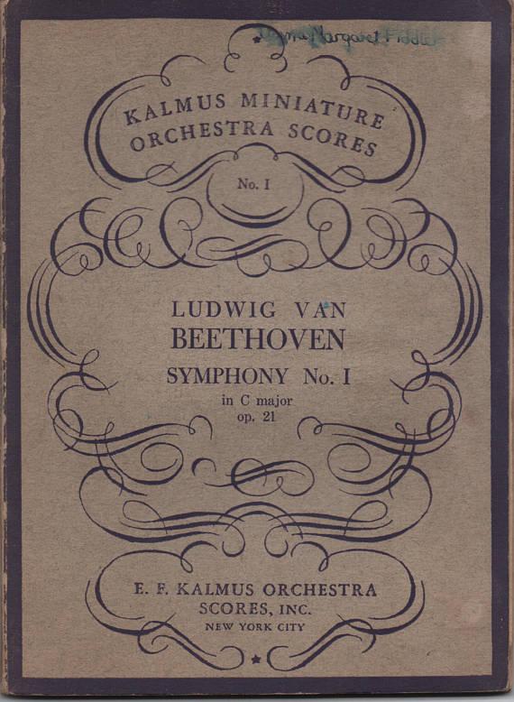 Beethoven, Symphony No  1, in C Major, Kalmus Miniature Orchestra