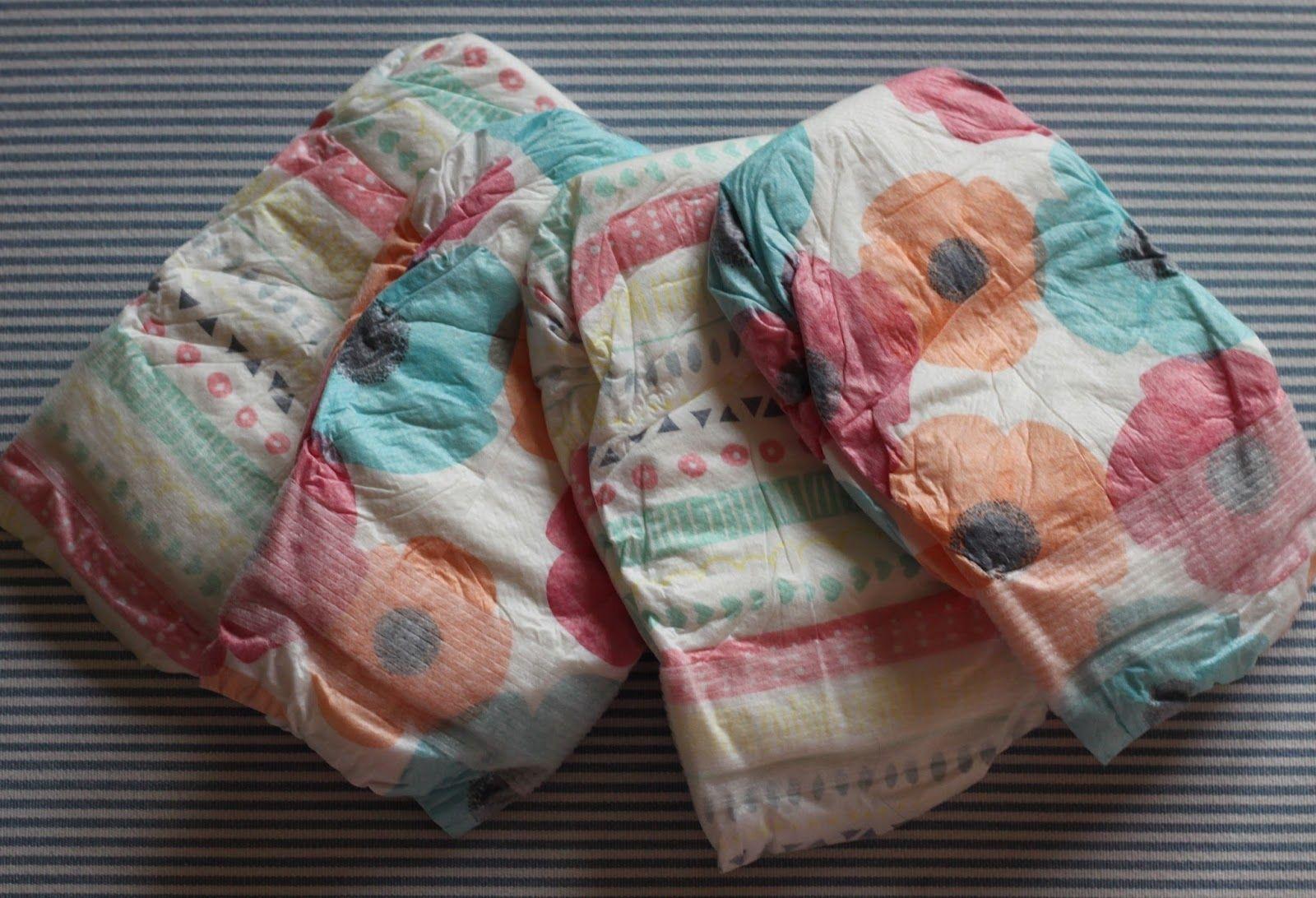 honest diapers flower print