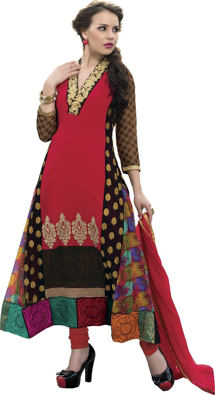 b47c3b0b7 Style Mania Georgette Embroidered Salwar Suit Dupatta Material Price in  India - Buy Style Mania Georgette Embroidered Salwar Suit Dupatta Material  online at ...