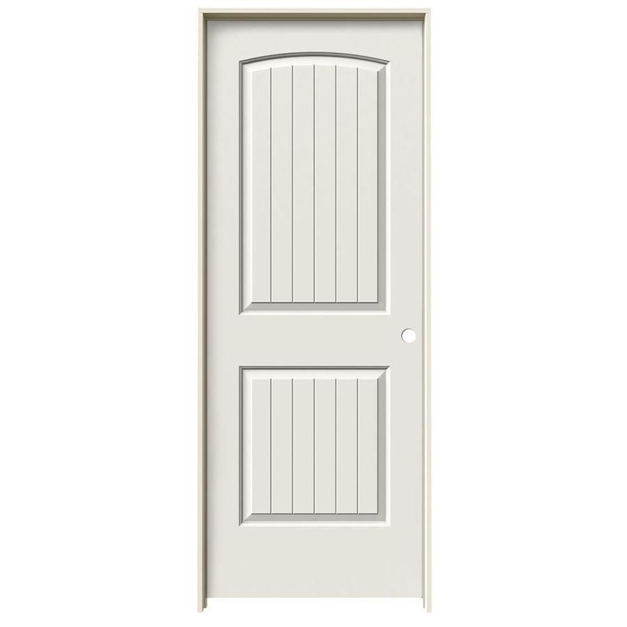 Jeld wen santa fe white panel round top plank hollow core molded composite single prehung door common in  actual also rh pinterest