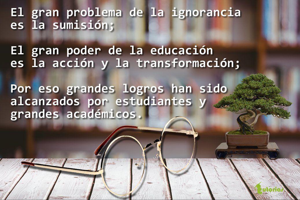 El poder de la educación.