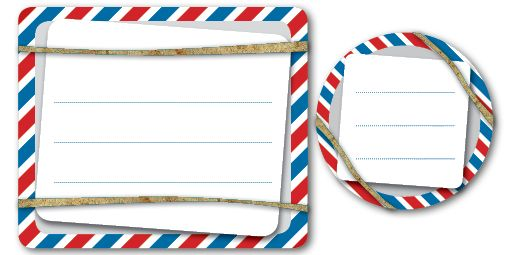 Printable Labels airmail style shipping label Air mail #airmail