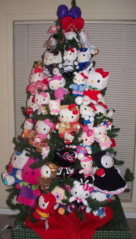 Hello Kitty Christmas Tree This Is What I Should Do With All My Hk Plush Dolls Hello Kitty Christmas Tree Hello Kitty Christmas Hello Kitty Themes