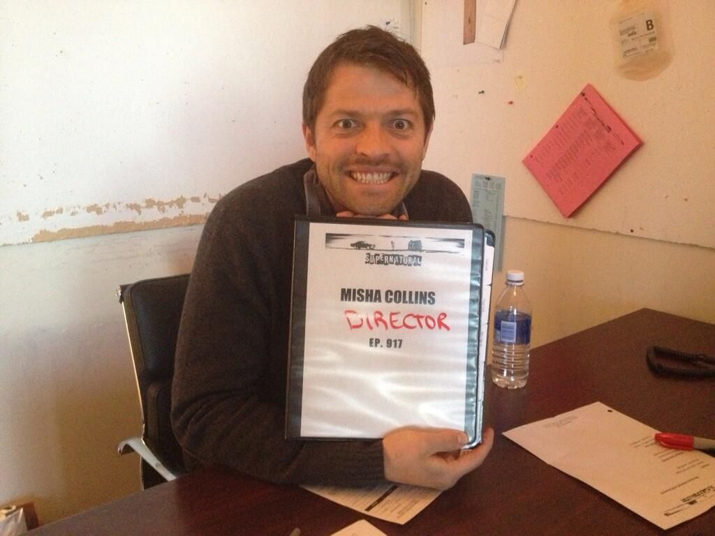 """Meanwhile, Misha........ """"We have a very over eager new director at Supernatural."""" - Tara Larsen"""