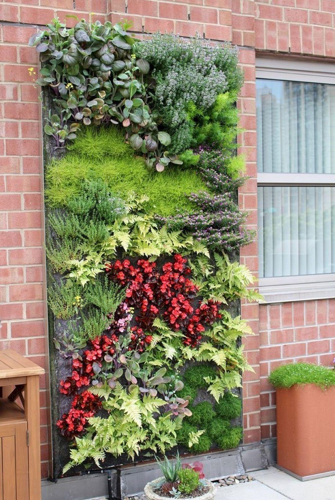 30 Outstanding Diy Wall Gardens Outdoor Design Ideas That Inspire You Vertical Garden Design Vertical Garden Diy Vertical Garden