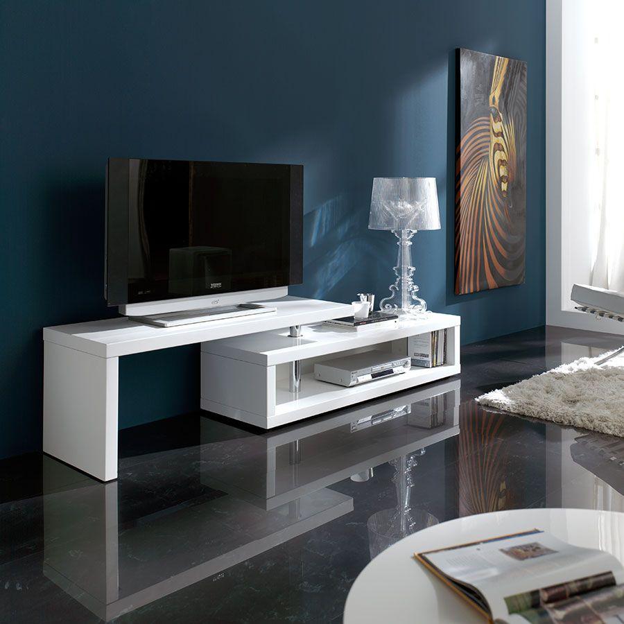 Redoutable Meuble Tv Blanc Design
