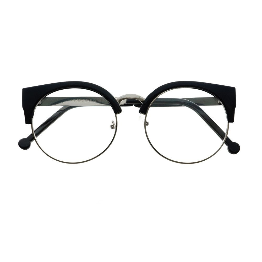 Eyeglasses frames in style - Designer Fashion Pearls Clear Lens Oversized Round Glasses Frames R2100