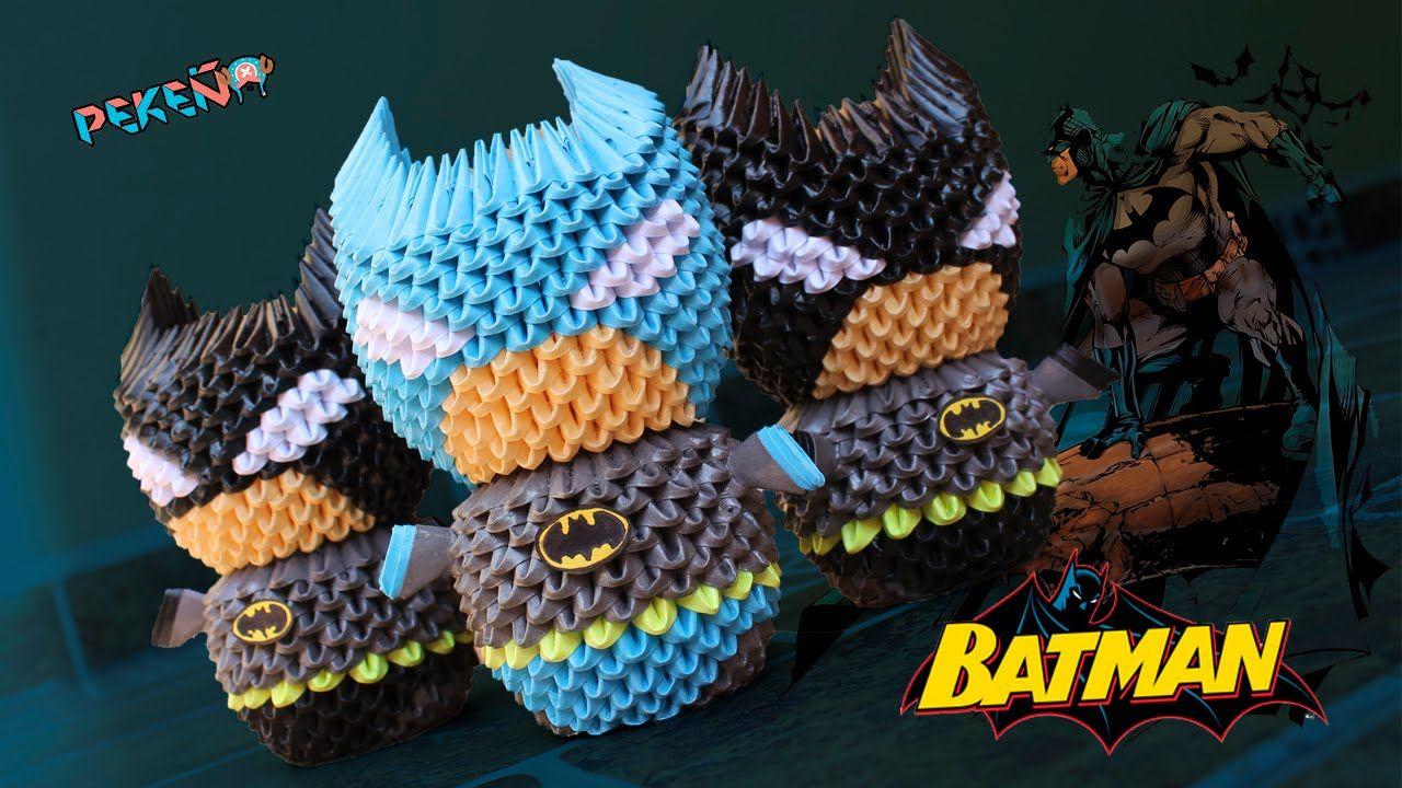 Batman 3d origami pekeo quilling 3d pinterest 3d batman 3d origami pekeo jeuxipadfo Images