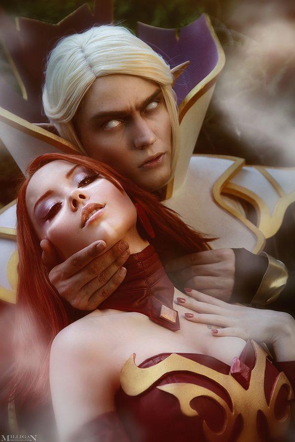 DotA 2 - Lina and Invoker by MilliganVick deviantart com   Pose