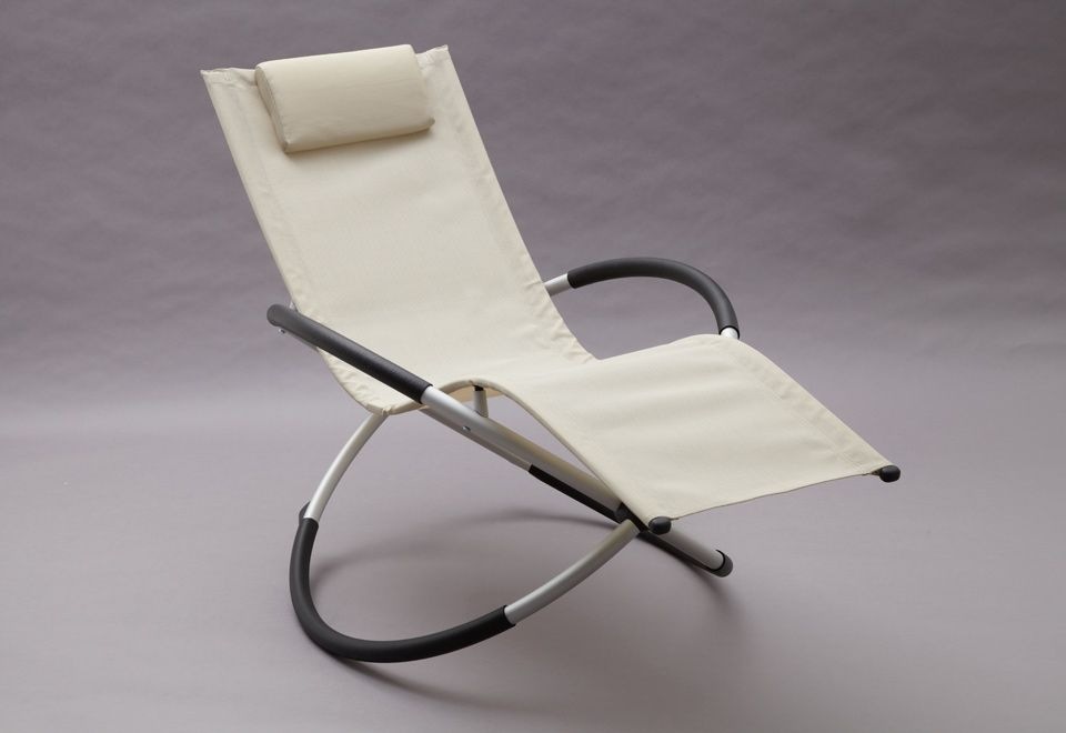 Very similar to the Zero Gravity Perfect Chair lounger I have - the Back Store sells this type of stuff