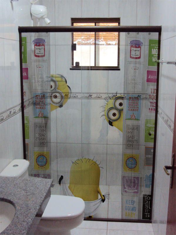 AdesivoBoxsossolteiros19  Decoração de Casa  Pinterest  Adesivo, Sozin -> Adesivo Para Decoracao De Banheiro