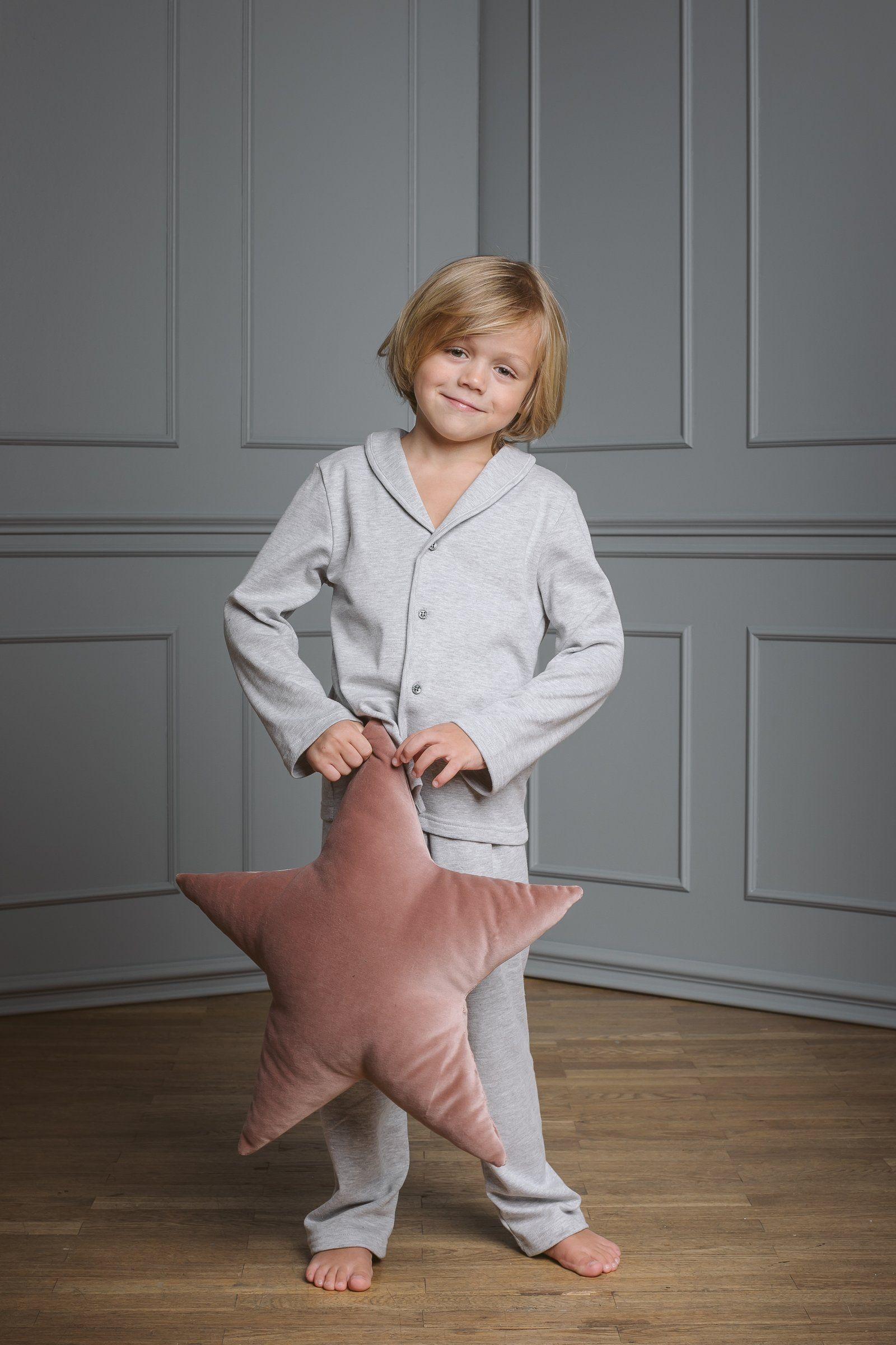 dbb7586a01a8 SAM GREY MELANGE -  Kids  Boys  Children  Nightwear  Sleepwear  Nightclothes   Homewear  amikichildren