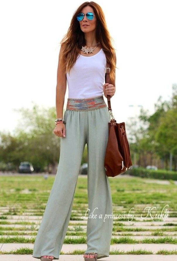 933e448739 28 Modern ways to Wear Palazzo Pants with other Outfits